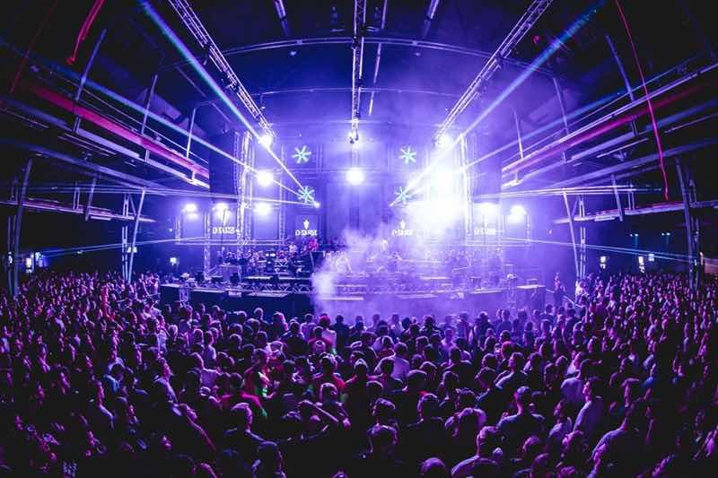 Stage lights show at Hardshift Festival