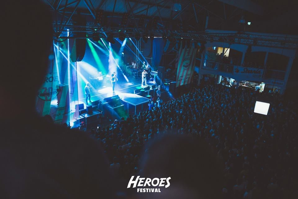 Lights show on stage at Heroes Festival