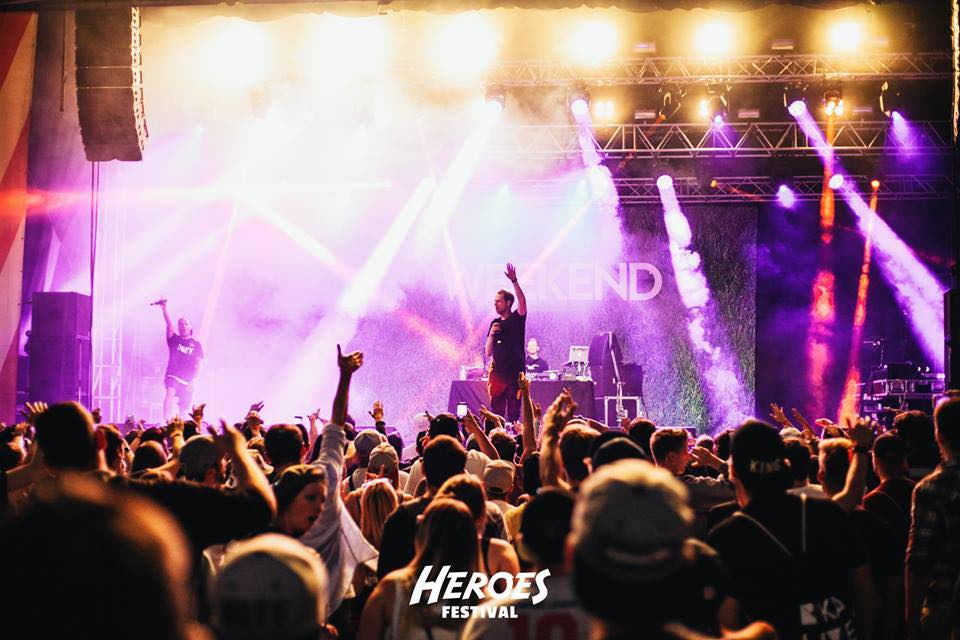 Live performance at Heroes Festival