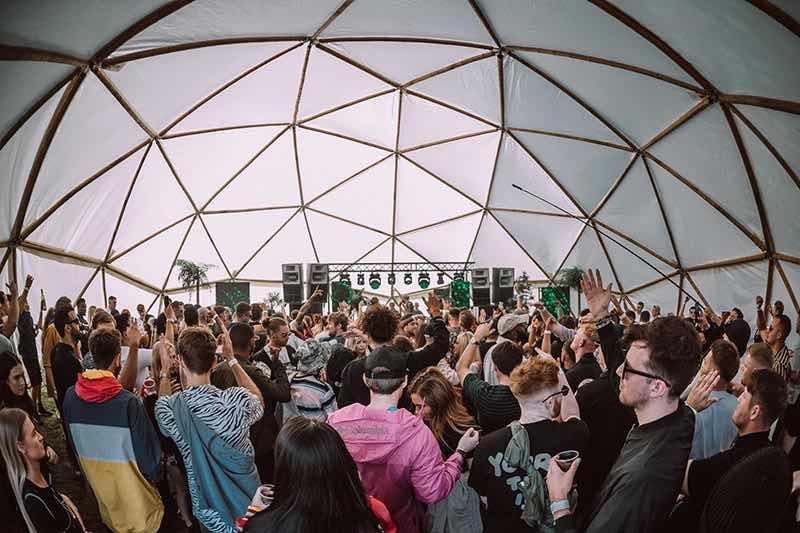 Indoor stage dancing at hide and seek Festival