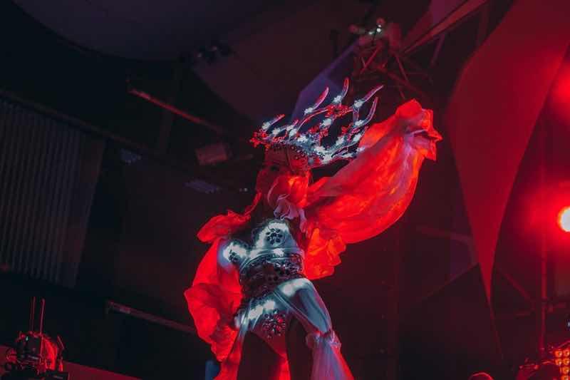 Stage dancer at Hope Festival