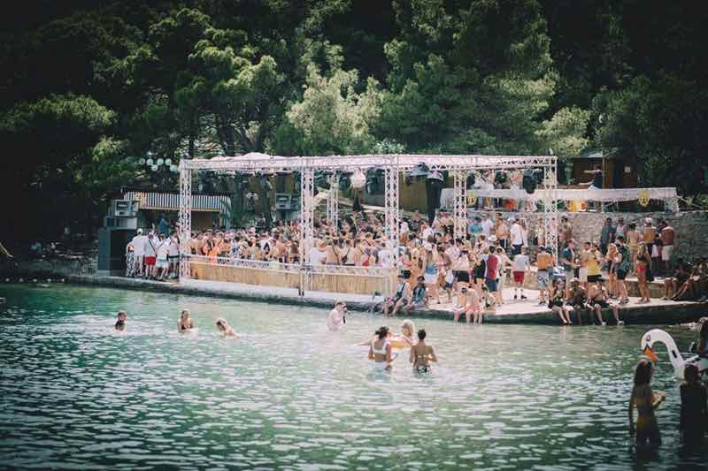 Main stage daytime at Hospitality on the Beach Festival
