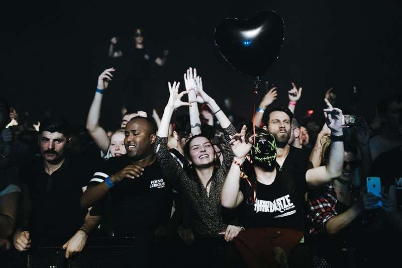 Front row fans at I love techno europe festival