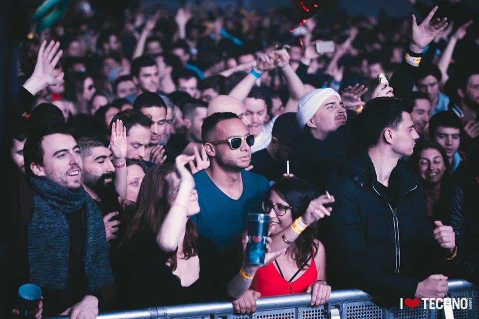 Front row fans at I Love Techno Europe