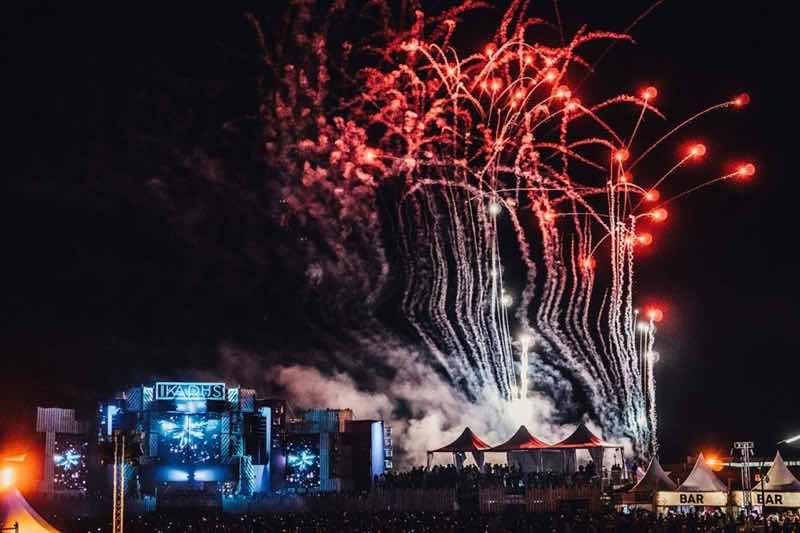 Fireworks at Ikarus Festival
