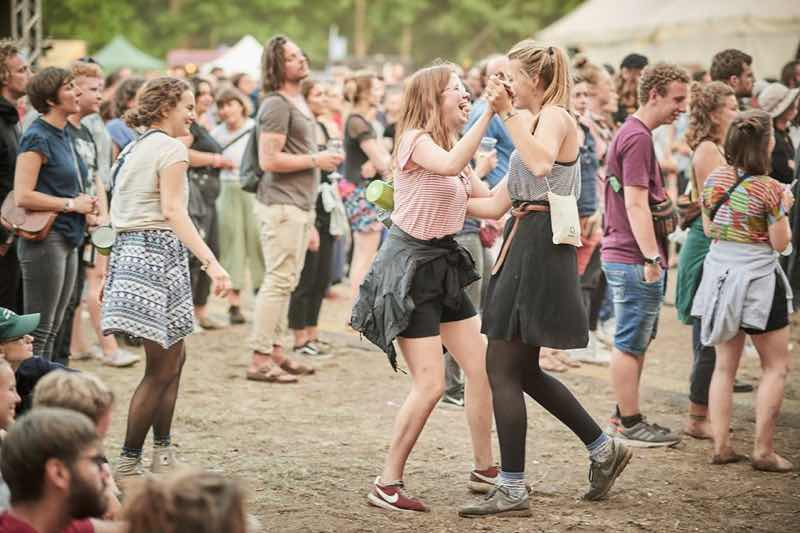 Fans dancing at Immergut Festival