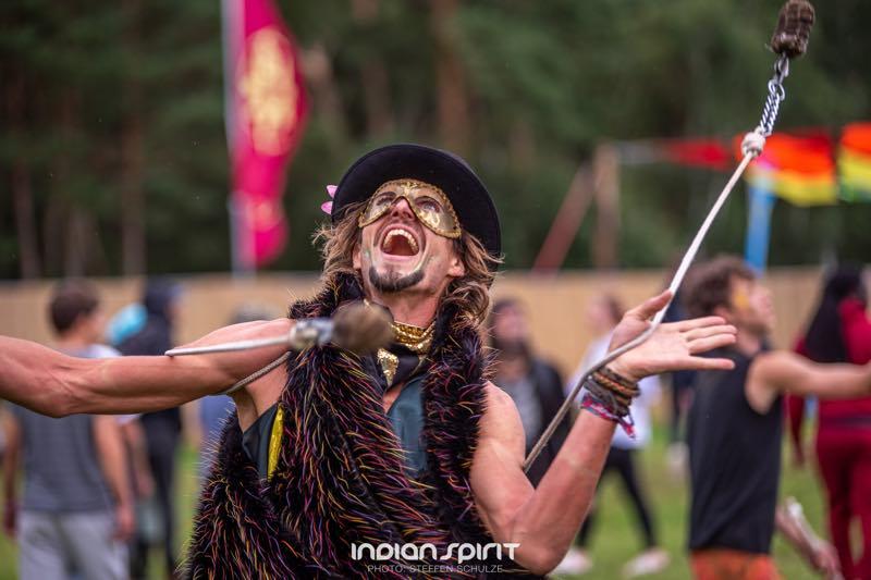 Fan enjoys at Indian Spirit Festival