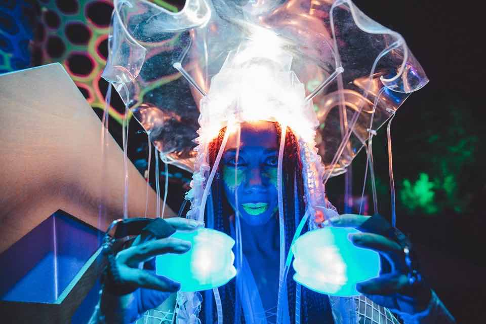 Amazing jellyfish outfit at Insomnia Festival