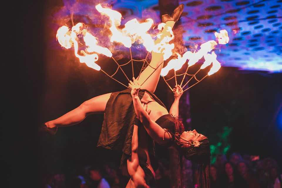 Fire show at Insomnia Festival