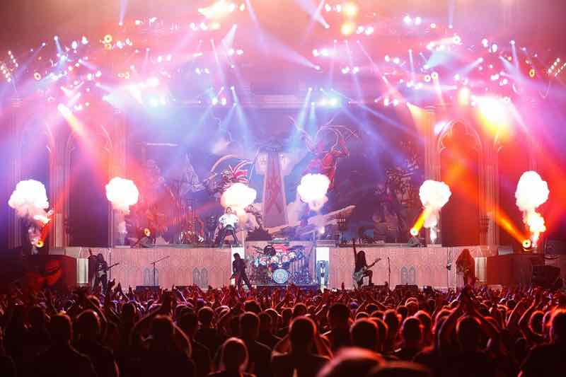 Stage view Legacy of the Beast Tour Iron Maiden Lisbon 2020
