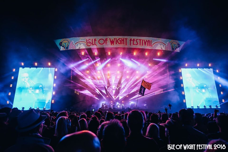 Callum Baker live stage lights at isle of wight festival