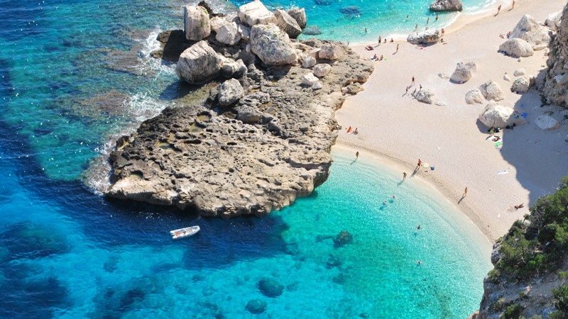 Cala Mariolu beach in Sardinia Italy