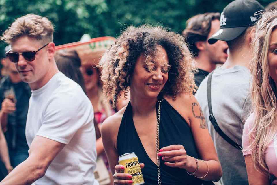 Beauty enjoying at Junction 2 Festival