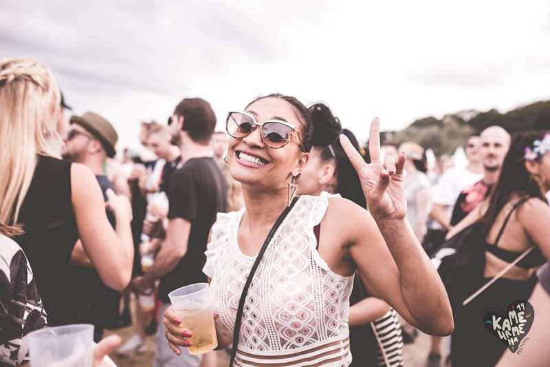 Fans enjoying at Kamehameha Festival