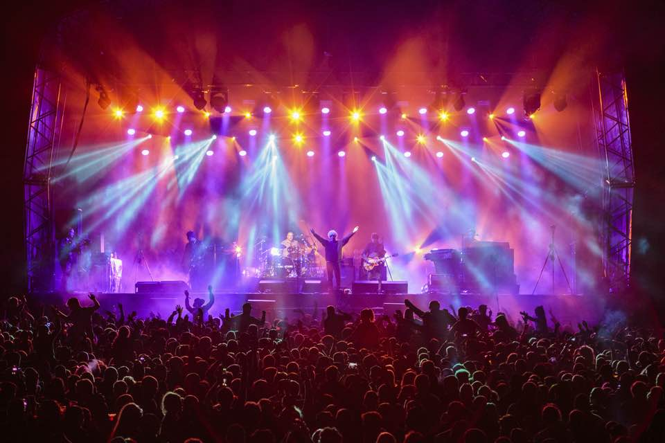 Main stage lights at Kendal Calling Festival