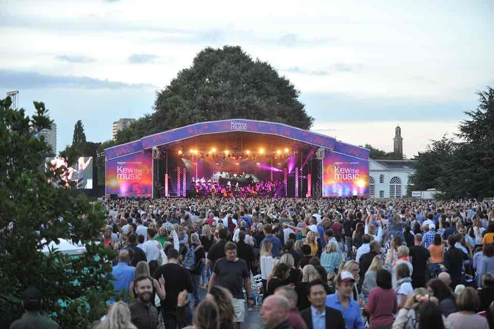 Stage lights at Kew the Music Festival