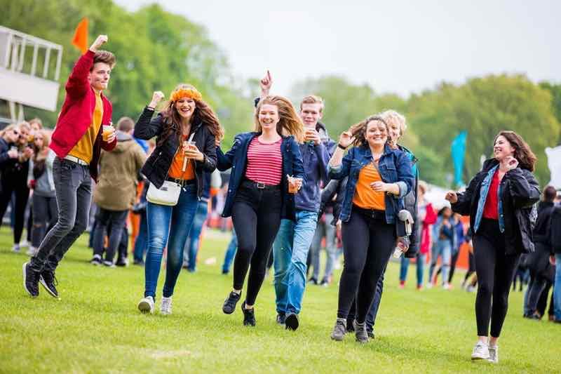 Fans enjoying at Kingsland Festival Groningen