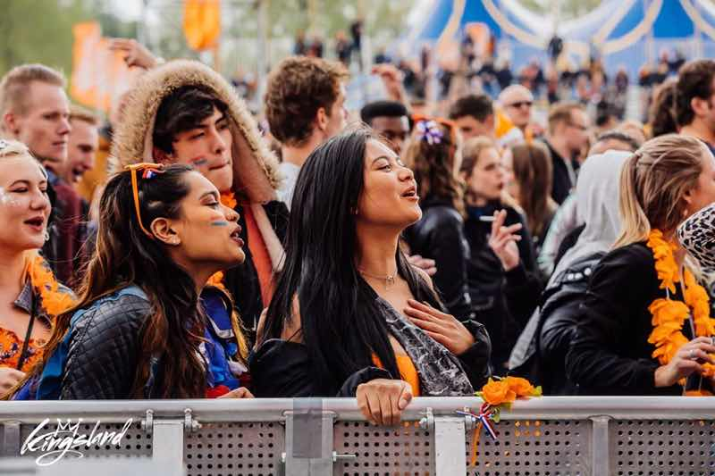 Front row fans at Kingsland Festival Rotterdam