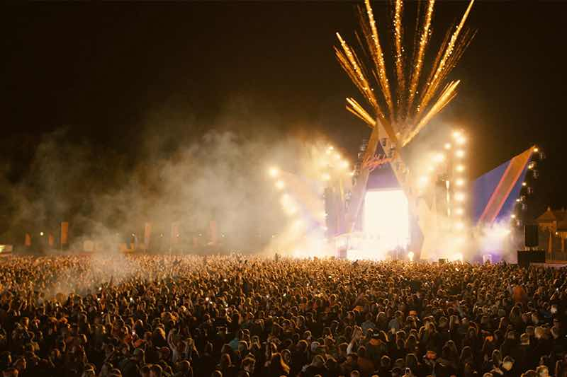 Fireworks at Kingsland Festival Tilburg