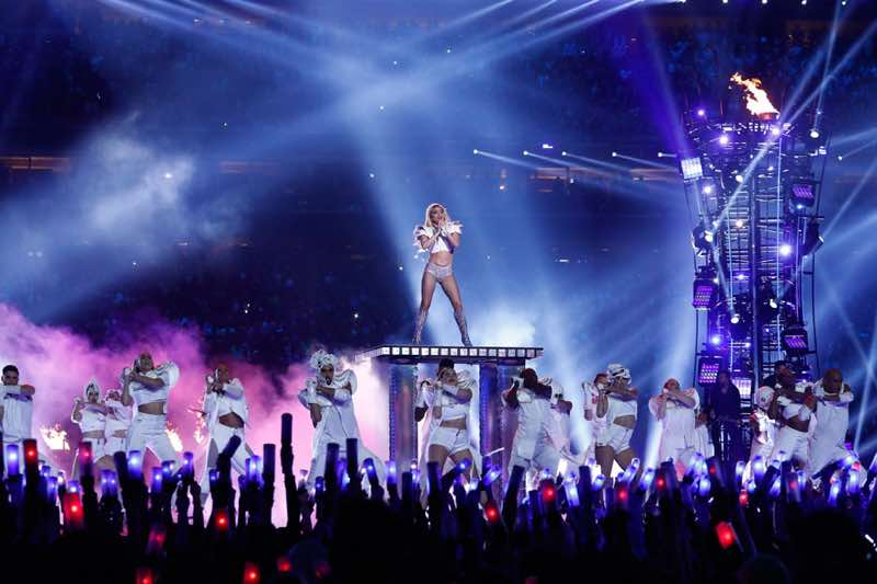Super Bowl stage Lady Gaga Concert London
