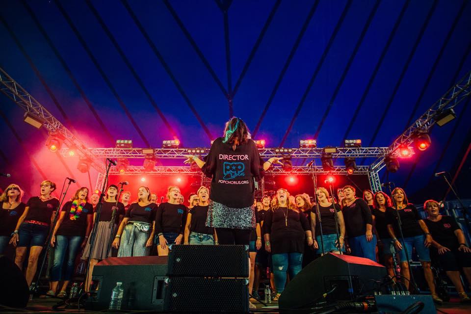 Popchorus live at Latitude Festival