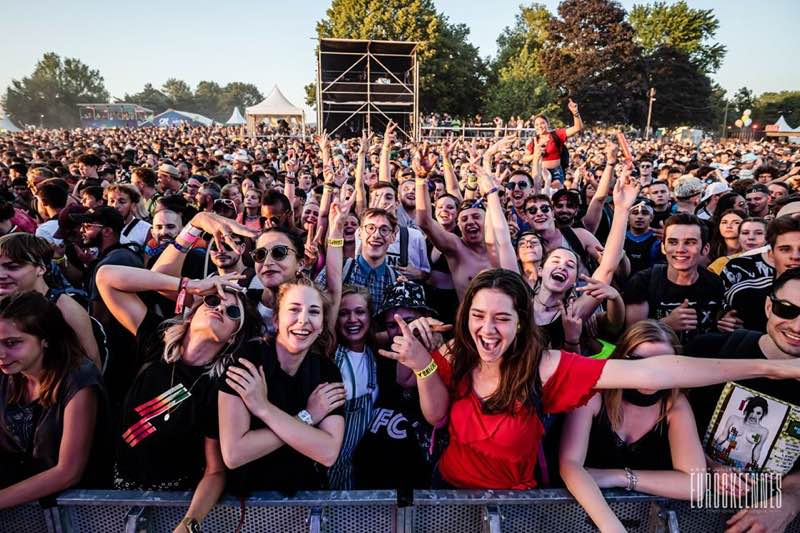 Front row fans at Les Eurockeenees Festival