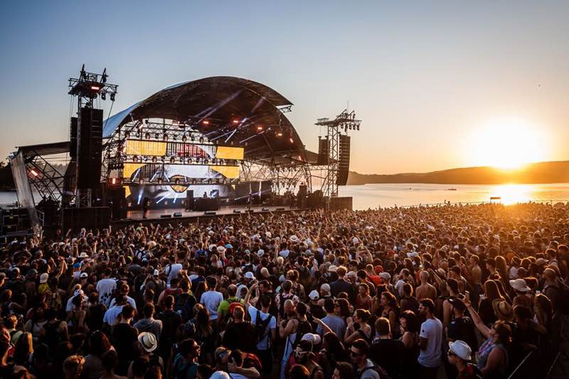 Main Stage Sunset view at Eurockeenees Festival