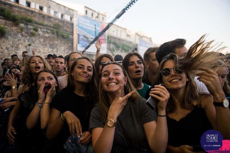 Fans at Les Francofolies de la Rochelle