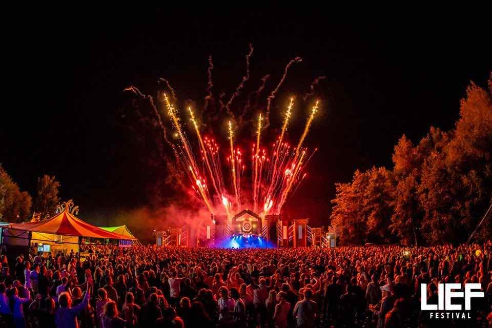 Fireworks at Leaf Festival