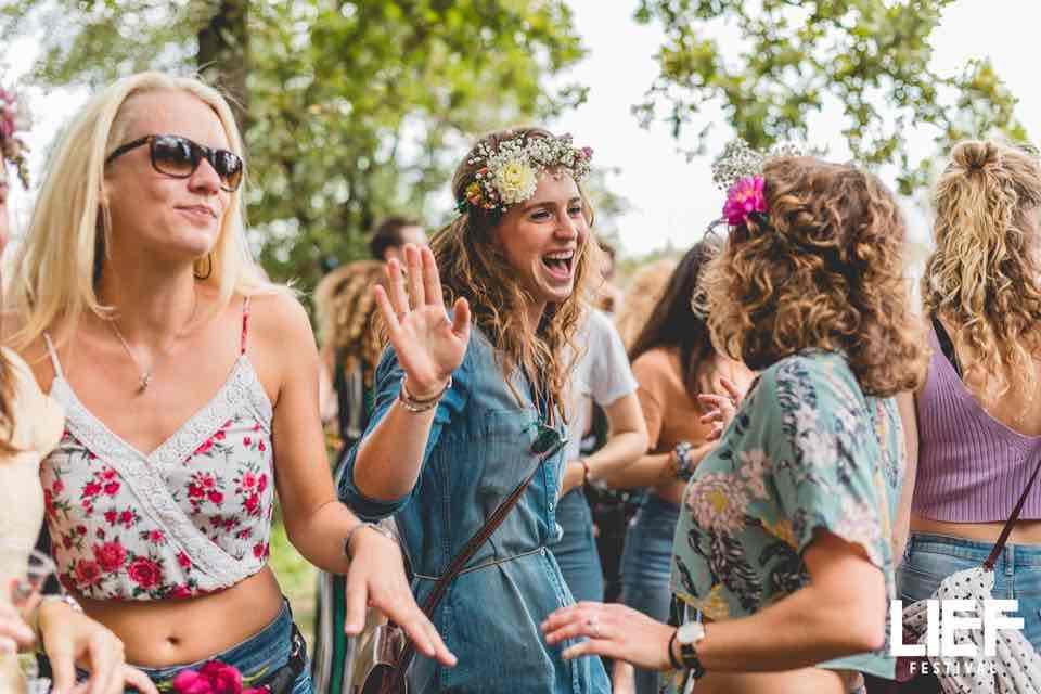 Flower girls at Leaf Festival
