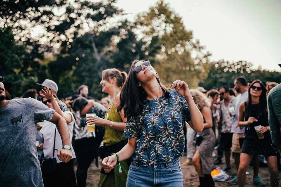 Fans enjoying at Lisb-ON Jardim Sonoro Festival
