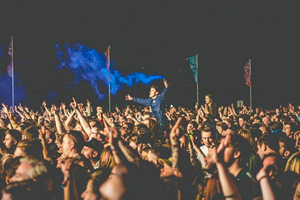Fans dancing at Liverpool Sound City Festival