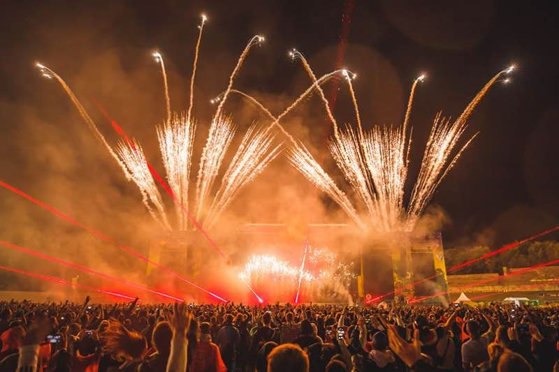 Fireworks at Lollapalooza Berlin Festival