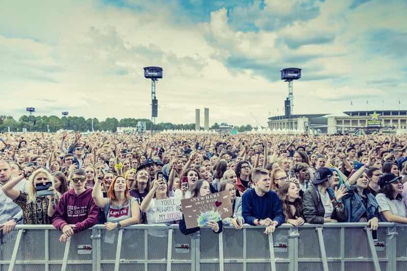 Front row fans at Lollapalooza Berlin Festival