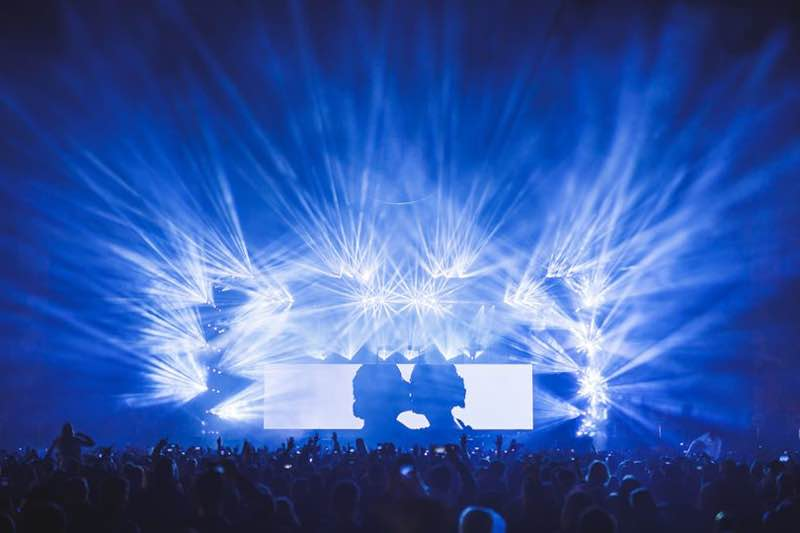 Lights show on stage at Lollapalooza Berlin Festival