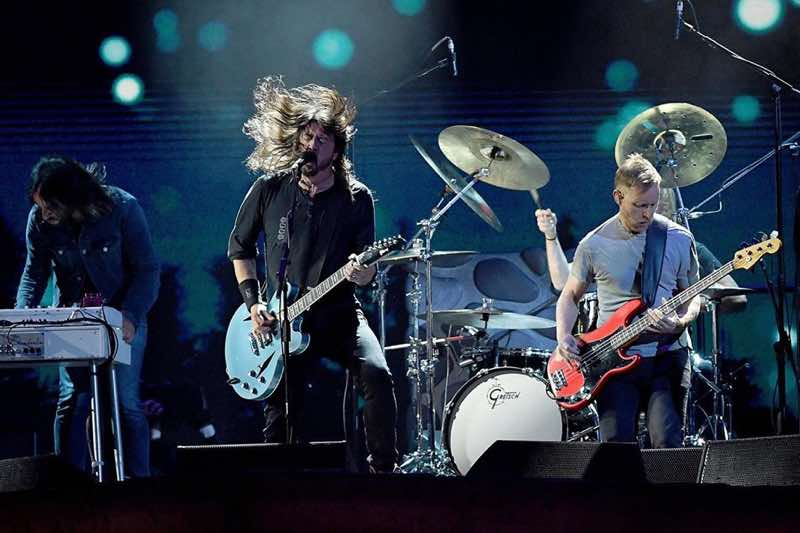 Foo Fighters performing at Lollapalooza Stockholm Festival