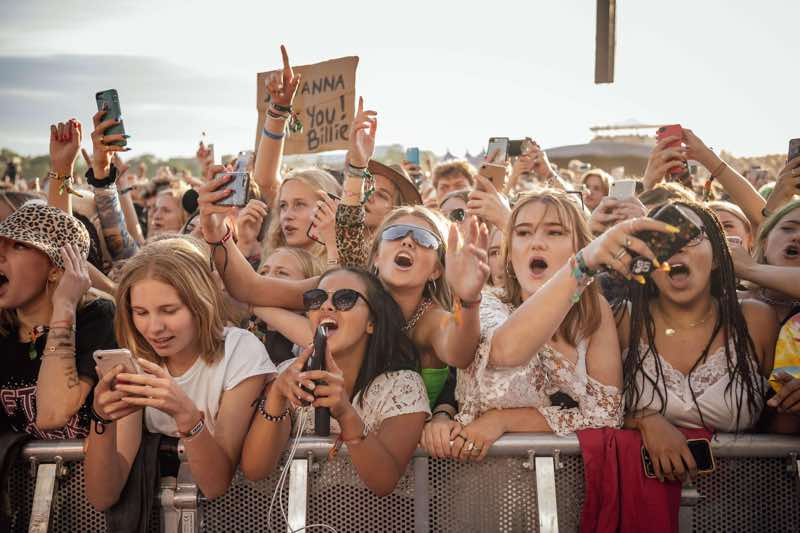 Front row fans at Lollapalooza Stockholm Festival