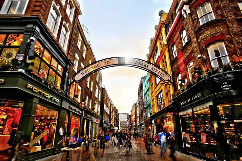 Shops at Carnaby Street in London Travel Guide