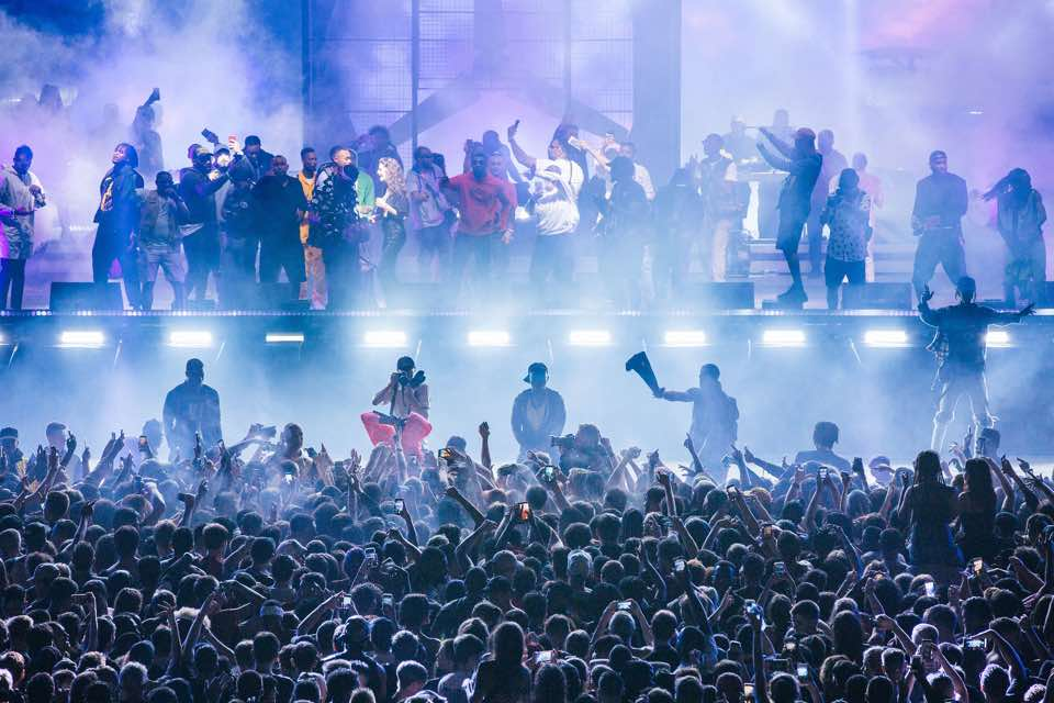 Party stage at lovebox festival