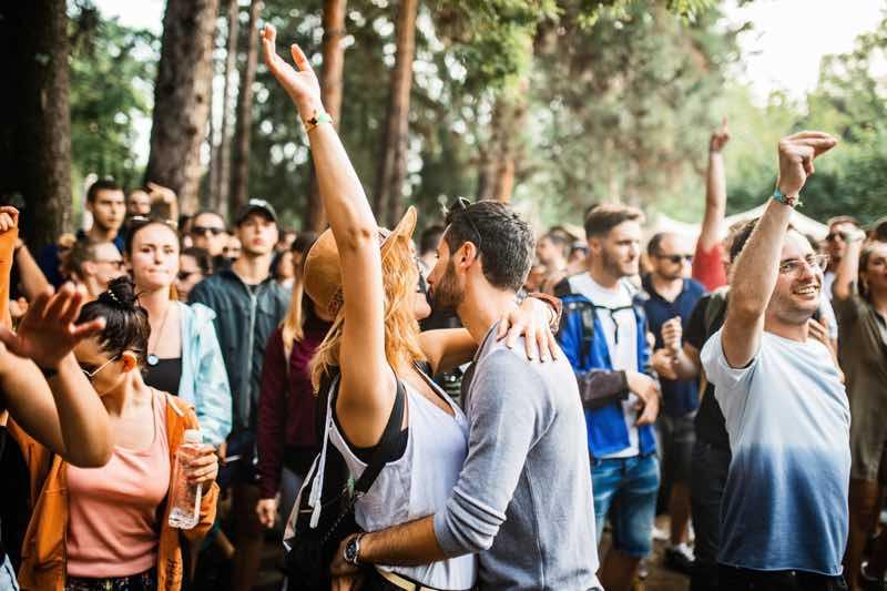 Fans dancing at Lovefest