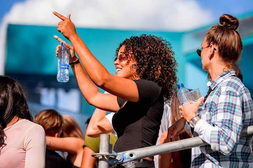 Fans dancing at Loveland Festival