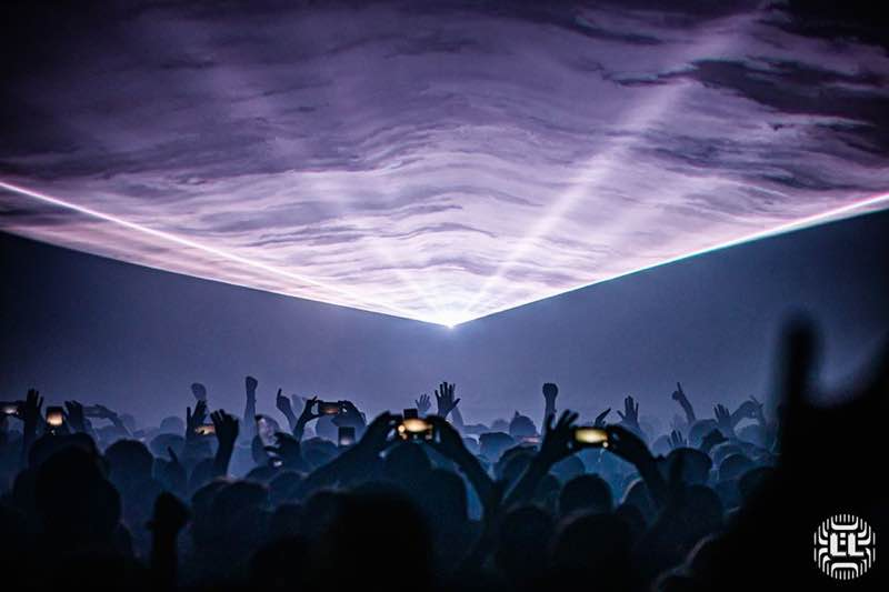 Lights show at Lowlands Festival