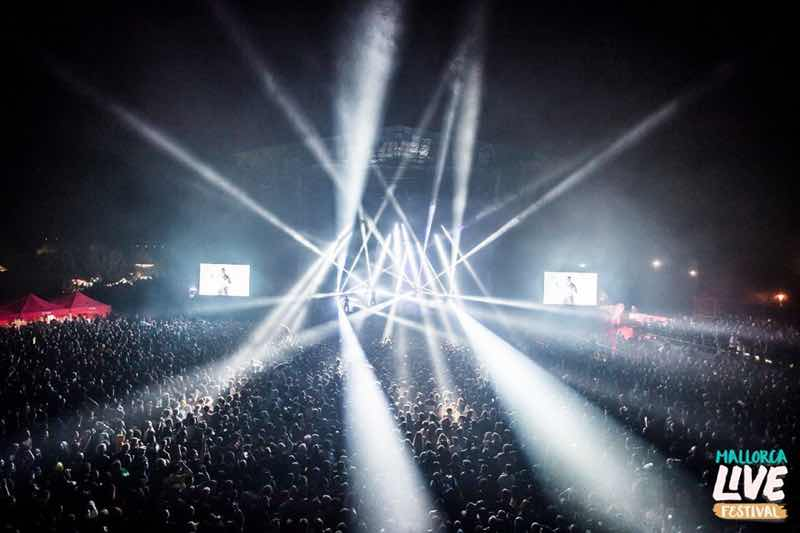 Stage lights show at Mallorca Live Festival