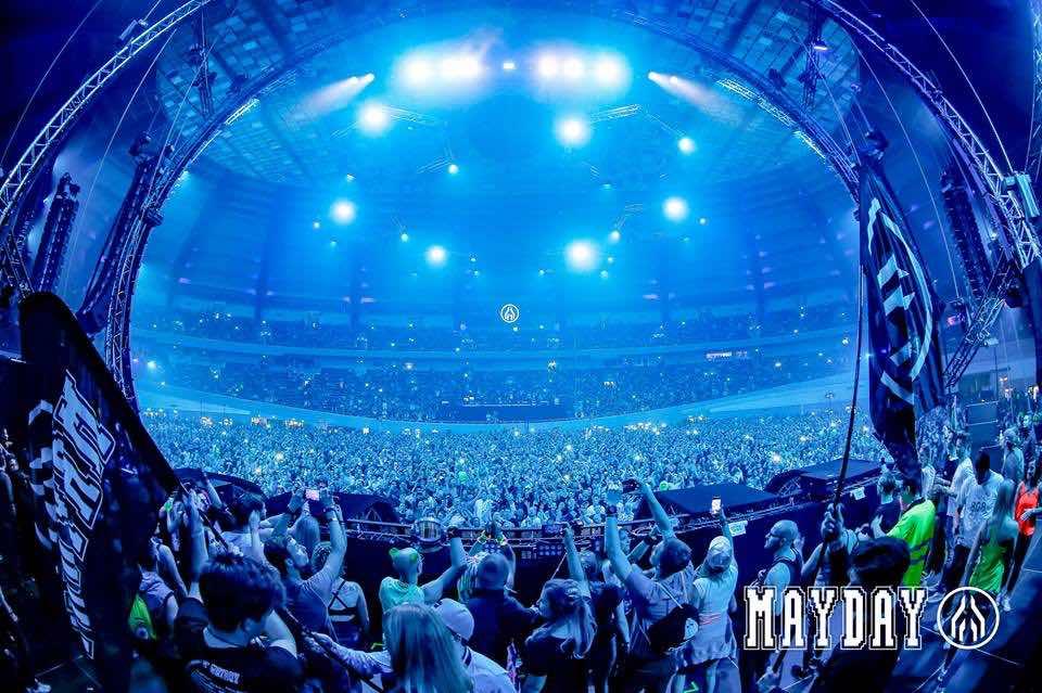 Blue sky stage at mayday dortmund festival