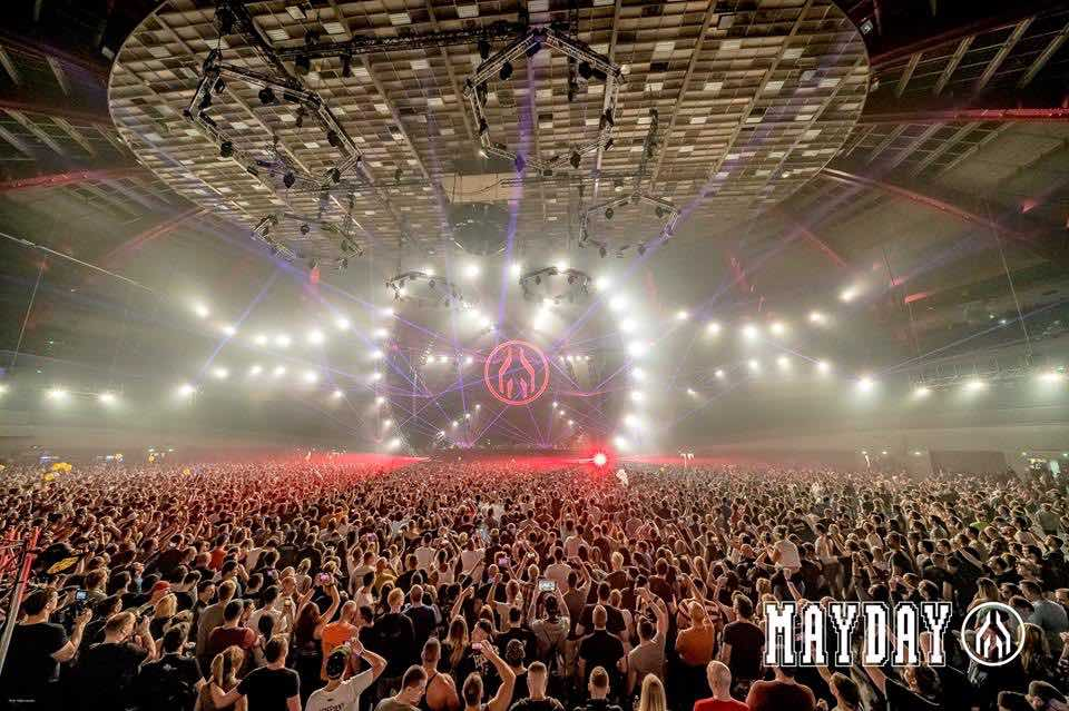 Crowd and main stage at mayday dortmund festival