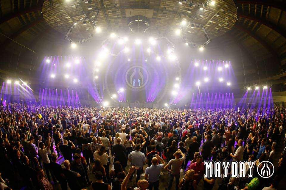 Lights show stage at mayday dortmund festival
