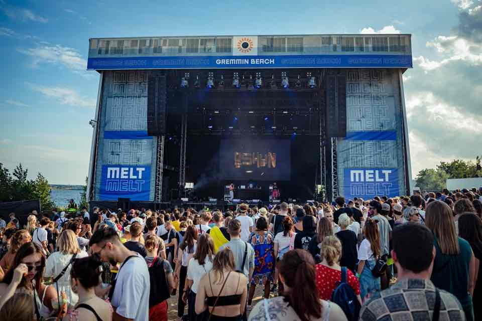 Dancing at main stage at Melt Festival