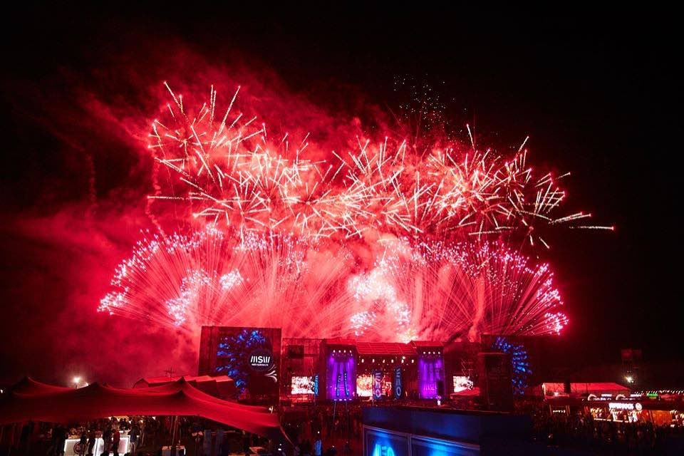 Fireworks show at Echelon Open Air and Indoor Festival