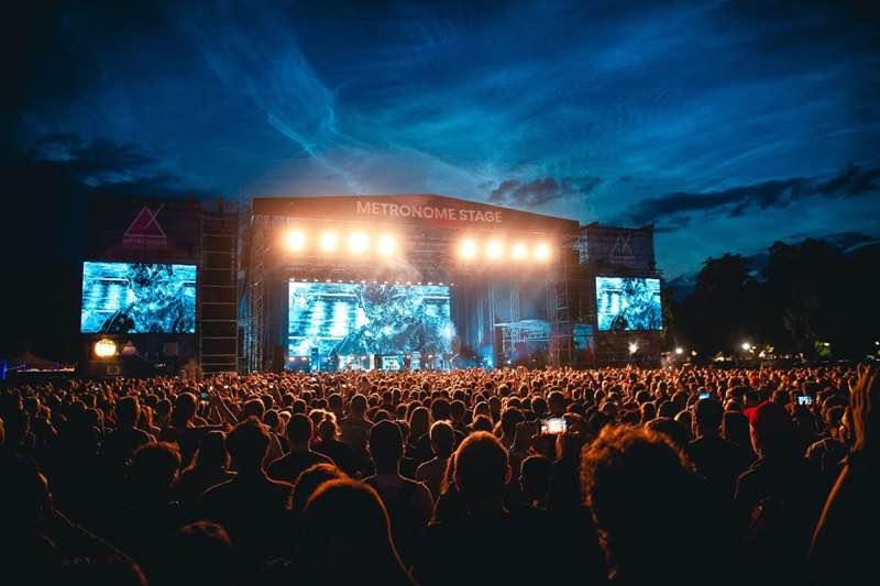 Main stage lights at Metronome Festival Prague