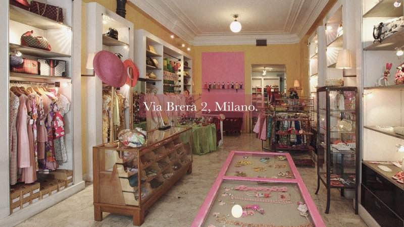 Cavalli e Nastri Shop in Via Brera at Milan best shopping areas